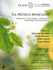 Música Sinfónica Murciana – Auditorio Victor Villegas – 23 de enero de 2019