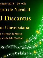 CONCIERTO DE NAVIDAD – 13 diciembre – 20´00h – SECC. UNIVERSITARIA DISCANTUS