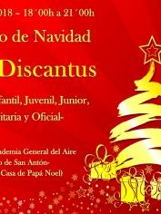 CONCIERTO DE NAVIDAD – 22 diciembre 2018 – 18´00h – CORAL DISCANTUS