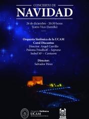 Concierto de Navidad – Discantus&Orquesta Sinfónica de la UCAM – 26 diciembre 2018