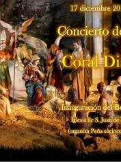 CONCIERTO DE NAVIDAD – 17 diciembre 2018 – 21´00h – CORAL DISCANTUS