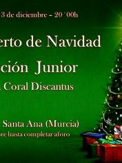 Concierto Villancicos Secc. Junior Discantus – Iglesia Las Anas – Viernes 13 diciembre- 20´00h