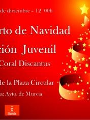 Sábado 21 de diciembre – Concierto Sección Juvenil – 11´00h – Arbol de la Plaza Circular (Murcia)