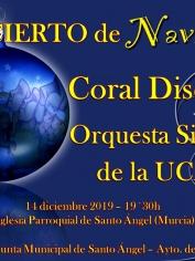 Concierto Villancicos Coral Discantus – Iglesia Santo Angel – Sábado 14 diciembre -19´30h