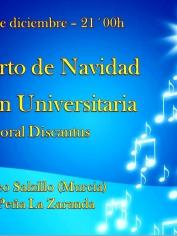 Concierto Villancicos Secc. University Discantus – Iglesia Museo Salzillo – Jueves 19 – 21´00h