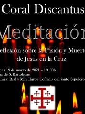 CONCIERTO «MEDITACIÓN» (Palabra – Música- Silencio) -Viernes 19 marzo – 19´00h S.Bartolomé