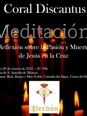CONCIERTO «MEDITACIÓN» (Palabra – Música- Silencio) -Lunes Santo – 20´00h S. Antolín